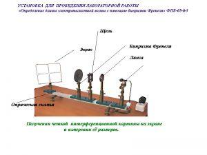 учебная техника, физика, оптика, учебная техника, ФПВ, определение, длины, электромагнитной, волны, бипризмы, Френеля, ФПВ05-2-3